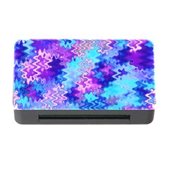 Blue And Purple Marble Waves Memory Card Reader With Cf by KirstenStar
