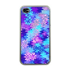 Blue And Purple Marble Waves Apple Iphone 4 Case (clear) by KirstenStar