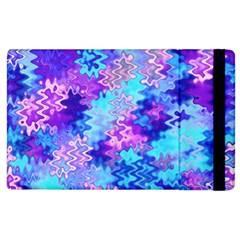 Blue And Purple Marble Waves Apple Ipad 3/4 Flip Case by KirstenStar