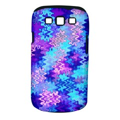 Blue And Purple Marble Waves Samsung Galaxy S Iii Classic Hardshell Case (pc+silicone) by KirstenStar