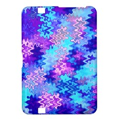 Blue And Purple Marble Waves Kindle Fire Hd 8 9  by KirstenStar