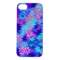 Blue And Purple Marble Waves Apple Iphone 5s Hardshell Case by KirstenStar