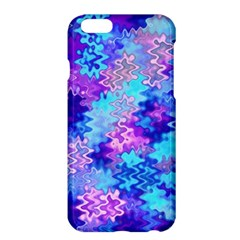 Blue And Purple Marble Waves Apple Iphone 6 Plus Hardshell Case by KirstenStar
