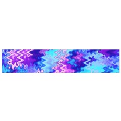 Blue and Purple Marble Waves Flano Scarf (Small)  by KirstenStar