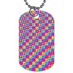 Crazy Yellow and Pink Pattern Dog Tag (Two Sides) by KirstenStar