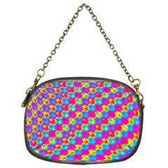 Crazy Yellow And Pink Pattern Chain Purses (one Side)  by KirstenStar