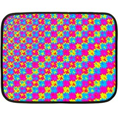 Crazy Yellow And Pink Pattern Double Sided Fleece Blanket (mini)  by KirstenStar