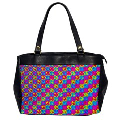 Crazy Yellow And Pink Pattern Office Handbags by KirstenStar