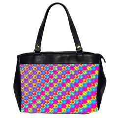 Crazy Yellow And Pink Pattern Office Handbags (2 Sides)  by KirstenStar