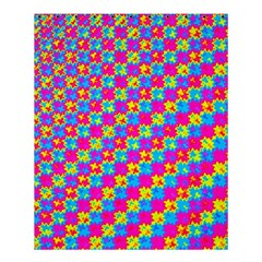 Crazy Yellow And Pink Pattern Shower Curtain 60  X 72  (medium)  by KirstenStar