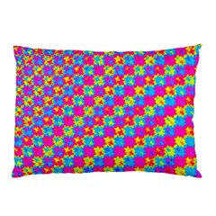 Crazy Yellow And Pink Pattern Pillow Cases (two Sides) by KirstenStar