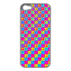 Crazy Yellow And Pink Pattern Apple Iphone 5 Case (silver) by KirstenStar