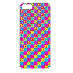 Crazy Yellow And Pink Pattern Apple Iphone 5 Seamless Case (white) by KirstenStar