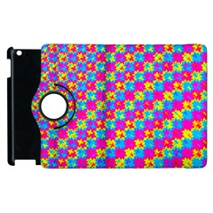 Crazy Yellow And Pink Pattern Apple Ipad 2 Flip 360 Case by KirstenStar