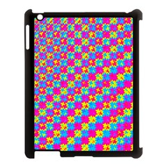 Crazy Yellow And Pink Pattern Apple Ipad 3/4 Case (black) by KirstenStar