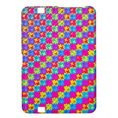 Crazy Yellow And Pink Pattern Kindle Fire Hd 8 9  by KirstenStar