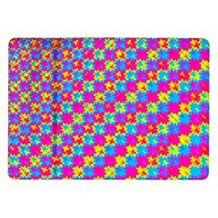 Crazy Yellow And Pink Pattern Samsung Galaxy Tab 10 1  P7500 Flip Case by KirstenStar
