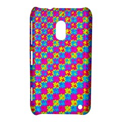 Crazy Yellow And Pink Pattern Nokia Lumia 620 by KirstenStar
