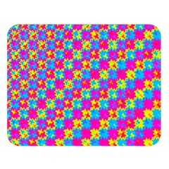 Crazy Yellow And Pink Pattern Double Sided Flano Blanket (large)  by KirstenStar
