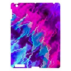 Stormy Pink Purple Teal Artwork Apple Ipad 3/4 Hardshell Case by KirstenStar