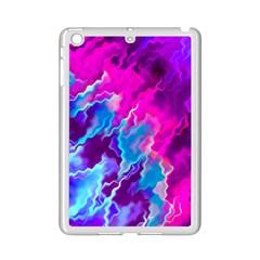 Stormy Pink Purple Teal Artwork Ipad Mini 2 Enamel Coated Cases by KirstenStar