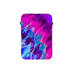 Stormy Pink Purple Teal Artwork Apple Ipad Mini Protective Soft Cases by KirstenStar