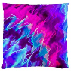 Stormy Pink Purple Teal Artwork Standard Flano Cushion Cases (One Side)  by KirstenStar