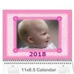 Pretty in Pink 2018 jan (any Year) Calendar - Wall Calendar 11  x 8.5  (12-Months)