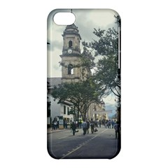 Cathedral At Historic Center Of Bogota Colombia Edited Apple Iphone 5c Hardshell Case by dflcprints