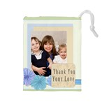 thank you - Drawstring Pouch (Large)