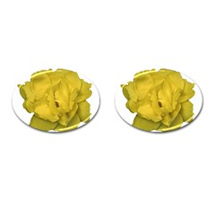 Isolated Yellow Rose Photo Cufflinks (oval) by dflcprints
