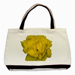 Isolated Yellow Rose Photo Basic Tote Bag (two Sides)  by dflcprints