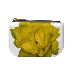 Isolated Yellow Rose Photo Mini Coin Purses by dflcprints