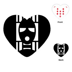 Masked Playing Cards (heart)  by ArtistRoseanneJones