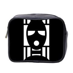 Masked Mini Toiletries Bag 2-Side by ArtistRoseanneJones