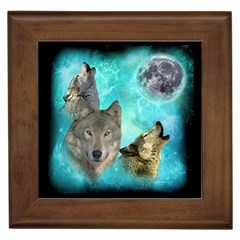 Wolves Shiney Grim Moon 3000 Framed Tiles by ratherkool