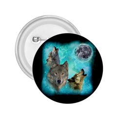 Wolves Shiney Grim Moon 3000 2 25  Button by ratherkool