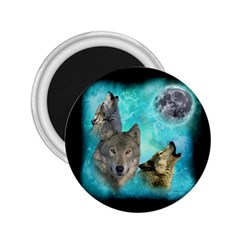 Wolves Shiney Grim Moon 3000 2 25  Magnets by ratherkool
