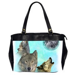 Wolves Shiney Grim Moon 3000 Office Handbags (2 Sides)  by ratherkool