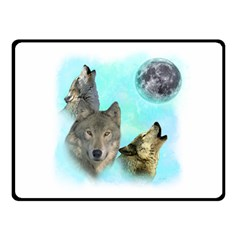 Wolves Shiney Grim Moon 3000 Fleece Blanket (small)
