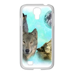 Wolves Shiney Grim Moon 3000 Samsung Galaxy S4 I9500/ I9505 Case (white) by ratherkool