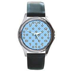 Cute Pretty Elegant Pattern Round Metal Watches
