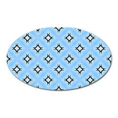 Cute Pretty Elegant Pattern Oval Magnet