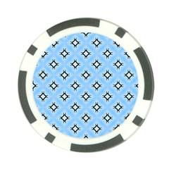 Cute Pretty Elegant Pattern Poker Chip Card Guards (10 Pack)