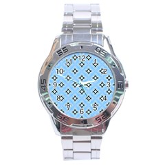 Cute Pretty Elegant Pattern Stainless Steel Men s Watch