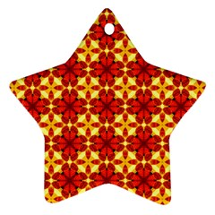 Cute Pretty Elegant Pattern Ornament (star)  by creativemom