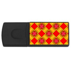 Cute Pretty Elegant Pattern Usb Flash Drive Rectangular (4 Gb)  by creativemom