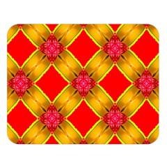 Cute Pretty Elegant Pattern Double Sided Flano Blanket (large)