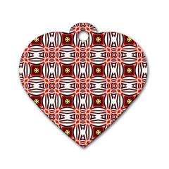 Cute Pretty Elegant Pattern Dog Tag Heart (Two Sides) by creativemom