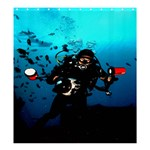 Exotic; Scubadiver   - Shower Curtain 66  x 72  (Large)